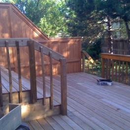 Built this deck last year and now time to stain it