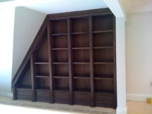 Bookshelf stained wood